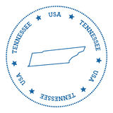 Tennessee vector map sticker. Stock Photo