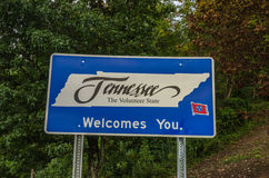 Tennessee Welcome Sign Stock Afbeeldingen
