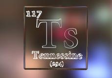 Tennessine化学元素 免版税库存图片