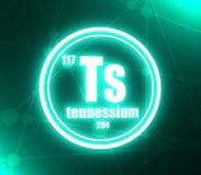Tennessium化学元素 皇族释放例证