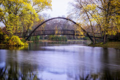 Tenney Park Bridge Royalty Free Stock Photo