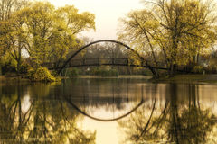 Tenney Park Bridge Royalty Free Stock Image