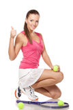 Tennid girl Royalty Free Stock Photos