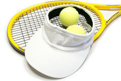 Tennis. Racquet and balls isolated on a white background stock photos