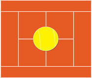 Tennis. Red surface tennis court Royalty Free Stock Photos