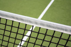 Tennis. Field and a  net Stock Photography