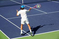 Tennis. Young man playing professional tennis Stock Image