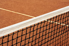 Tennis. Field and a  net Royalty Free Stock Photography