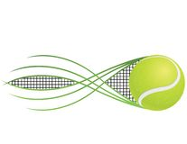 Tennis. Emblem and symbols isolated on white background Stock Image
