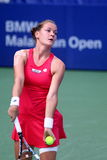 Tennis. Agnieszka radwanska  (poland) at bmw malaysia open Royalty Free Stock Images