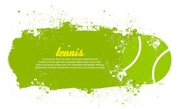 Tennis. Abstract grunge tennis poster with tennis ball Stock Images