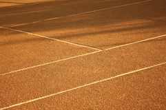 Tennis. Court with a coating of red clay Stock Photos