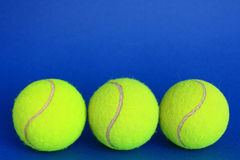 Tennis. Balls on a blue background Stock Photo