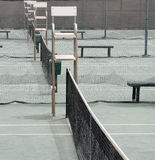 Tennis. Courts with the umpire chairs all in a row Stock Images