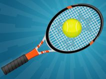 Tennis. Illustration of a tennis racquet with a ball Royalty Free Stock Image