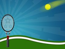 Tennis. Illustration of a tennis racquet with a ball royalty free illustration
