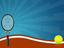 Tennis. Illustration of a tennis racquet with a ball Stock Photography