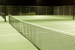 Tennis. Court on a cool summer evening royalty free stock photos