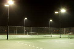 Tennis. Court on a cool summer evening royalty free stock photography