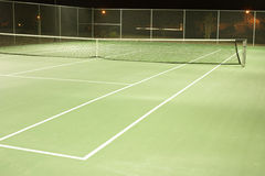 Tennis. Court on a cool summer evening royalty free stock images