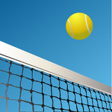 Tennis. Silhouettes of tennis ball, isoalted Royalty Free Stock Images