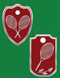 Tennis. Vectors boards with tennis rackets. Symbol tennis Royalty Free Stock Photography
