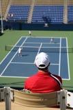 Tennis-Abgleichung Stockfotos