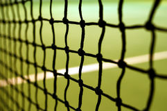 Tennis abstraction. Tennis net with very shallow depth of field Stock Images