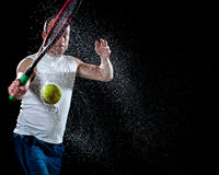 Tennis Action Royalty Free Stock Photo