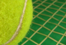 Tennis ad. You can put a text in the right part of the image Stock Photography