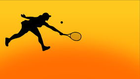 Tennis Animation. Four high quality vector animated scenes of silhouettes playing tennis. Ð¡uitable for TV and WEB commercials and advertisements