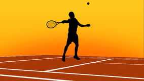 Tennis Animation. High quality vector animated scenes of silhouettes playing tennis. Ð¡uitable for TV and WEB commercials and advertisements