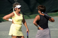 Tennis argument stock photos