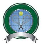 Tennis-Auslegung-Schablonen-Impuls stock abbildung