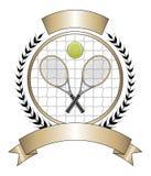 Tennis-Auslegung-Schablonen-Lorbeer vektor abbildung