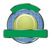 Tennis-Auslegung-Schablonen-Netz Stockfotos