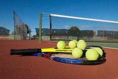 Tennis-Ausrüstung Stockfoto