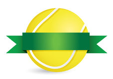 Tennis Award with blank gold label Royalty Free Stock Photo