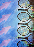 Tennis background. Abstract tennis invitation advert background with empty space Stock Image