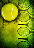 Tennis background. Abstract tennis invitation advert background with empty space Royalty Free Stock Photo