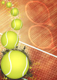 Tennis background. Abstract tennis invitation advert background with empty space Royalty Free Stock Photos
