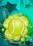 Tennis background Royalty Free Stock Photos