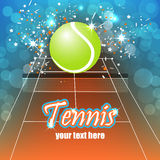 Tennis background with ball Stock Photo