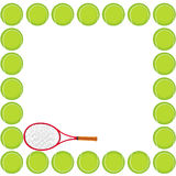 Tennis background card royalty free stock image