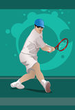 Tennis Backhand Royalty Free Stock Photography