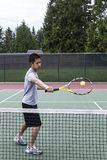 Tennis Backhand Volley Royalty Free Stock Photo