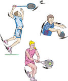 Tennis and Badminton Stock Images