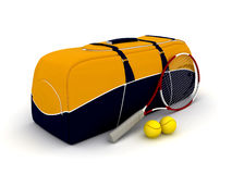 Tennis bag. The image of a tennis bag on a white background Royalty Free Stock Photography