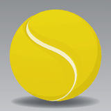 Tennis Ball. Yellow Tennis Ball Vector Drawing Stock Illustration