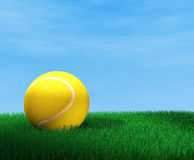 Tennis ball. 3d image of tennis ball royalty free illustration
